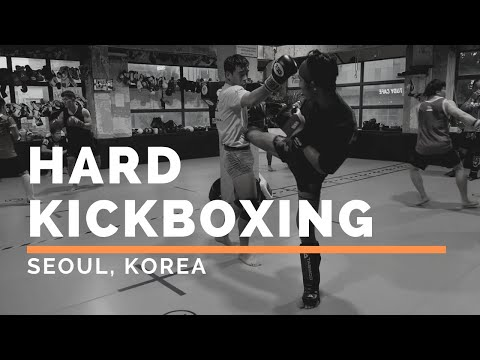 HARD Kickboxing Sparring In Seoul, Korea @ Team Posse