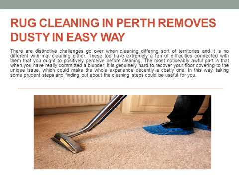 Rug Cleaning in Perth Removes Dusty in Easy Way