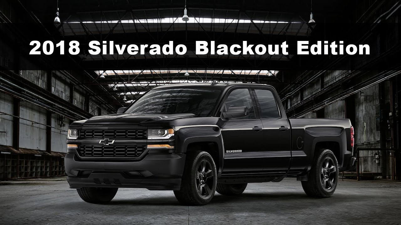 Blackout Chevy Silverado >> Chevrolet Silverado Blackout Edition Comparison Youtube