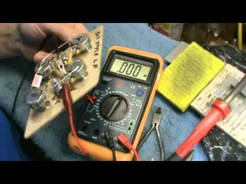 hqdefault testing a 50s style les paul wiring harness with a multimeter by how to check wiring harness with multimeter at eliteediting.co
