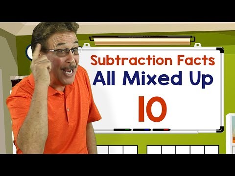 Subtraction Facts All Mixed Up 10 | Math Songs for Kids | Jack Hartmann