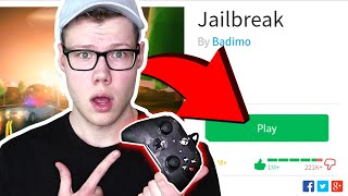 PLAYING JAILBREAK on A XBOX CONTROLLER!! (Roblox)