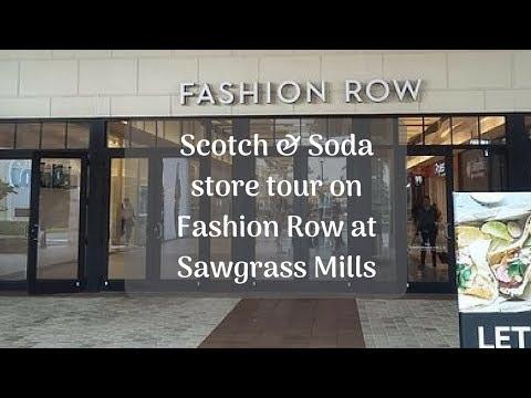 Scotch & Soda store tour on Fashion Row at Sawgrass Mills #TravelTips