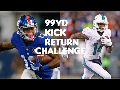 WHO CAN RETURN A 99YD KICK RETURN?!? ODELL BECKHAM JR VS JARVIS LANDRY!!