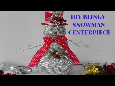 DIY CHRISTMAS CENTERPIECE (SNOWMAN)