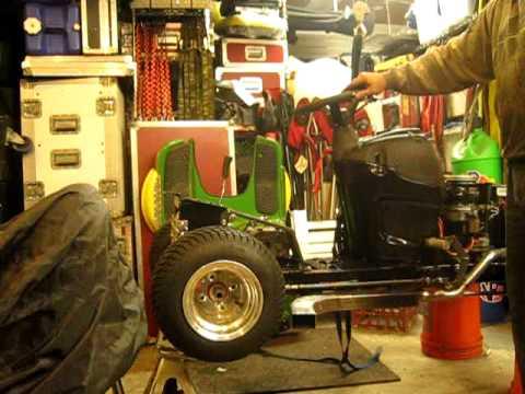 Lawn Mower Racing >> New Racing Mower Test - Exhaust Burn in John Deere L120 ...