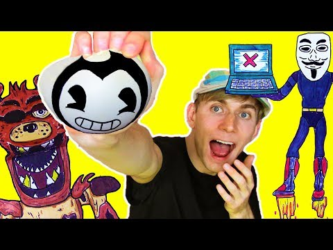 4 Funny Crazy Things You SHOULD TRY: Bendy, Hello Neighbor, FNAF, Granny, Hacker Craft Ideas