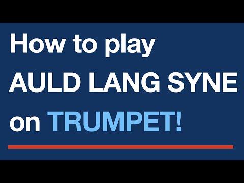 Auld Lang Syne - Easy trumpet sheet music score