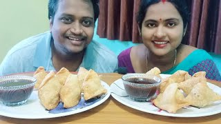 Samosa Challenge। Husband Vs Wife। Eating Show