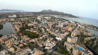 Bellevue club apartments Alcudia Majorca, First time from a Birds Eye View