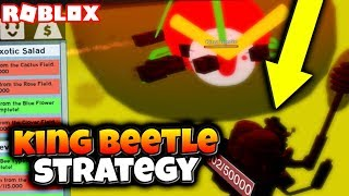 *BOSS CAVE* KING BEETLE TIPS, TACTICS, AND STRATEGIES!! (Roblox Bee Swarm Simulator)