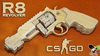 Как сделать Revolver R8 из дерева? CS:GO