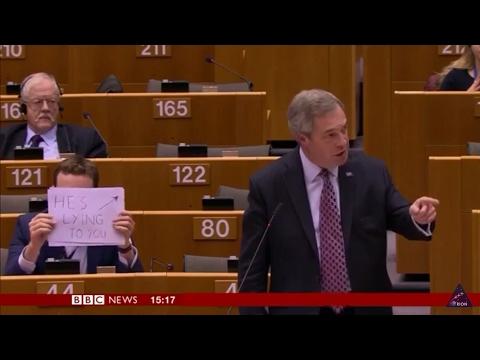 Nigel Farage DESTROYS EU Parliament over Donald J Trump.