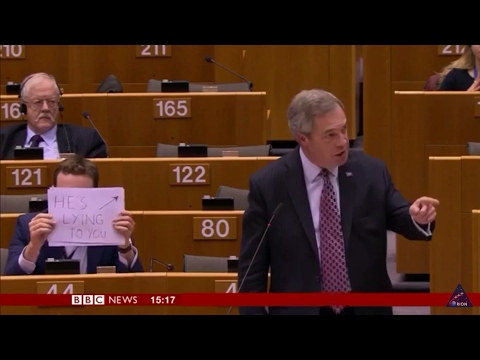 Nigel Farage DESTROYS EU Parliament over Donald J Trump.