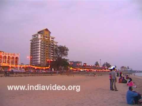 Dusk scenes at Kozhikode beach