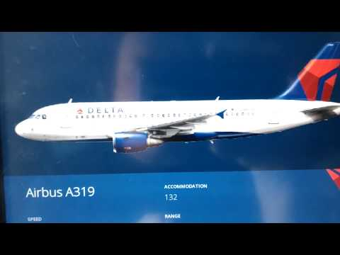 Delta Airlines in flight entertainment screen menus