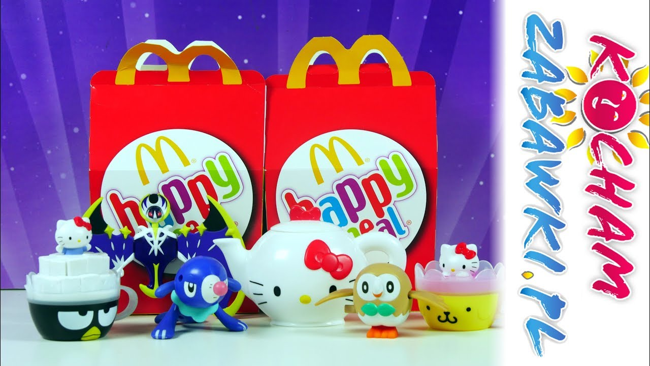 Happy Meal • Pokemony i Hello Kitty • Najnowsza Kolekcja Zabawek • McDonalds