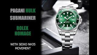 PAGANI HULK SUBMARINER/ROLEX HOMAGE