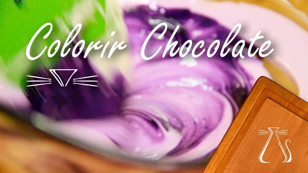 como colorir chocolate youtube