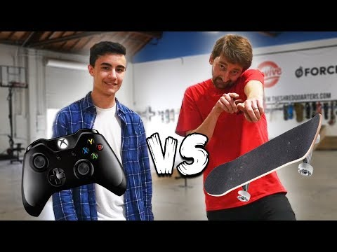 ZEXY VS AARON KYRO | SKATE 3 VS SKATEBOARDING
