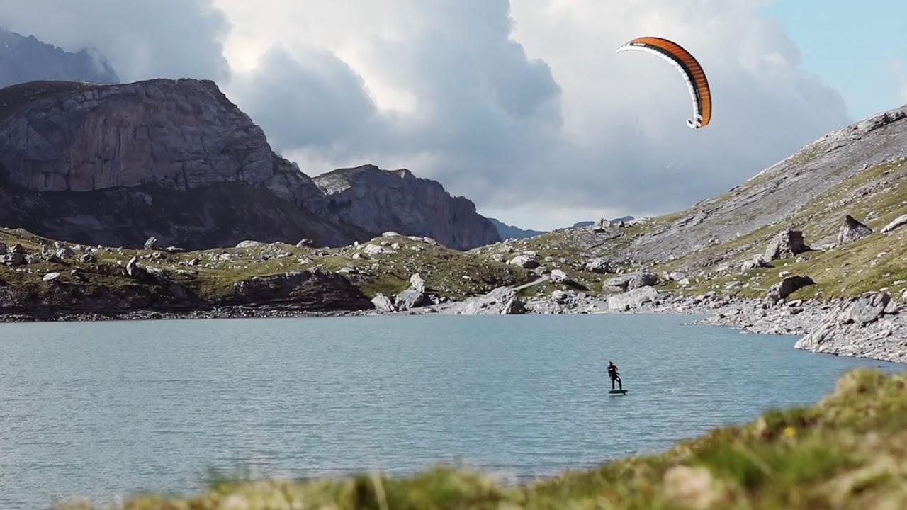 Hydrofoiling on a highalpine lake