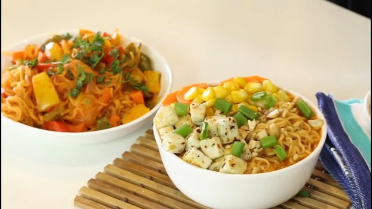 मसालेदार झटपट शेजवान नूडल्स आणि मसालेदार गरम गॅरिक नूडल्स | Madhura's Recipe | Ching's Secret