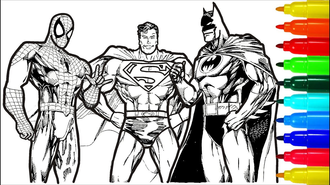 30 Best Ideas Boys Batman and Spiderman Coloring Pages ...