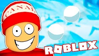 SNOWBALL WAR SIMULATOR → Roblox funny moments #90 🤣🎮