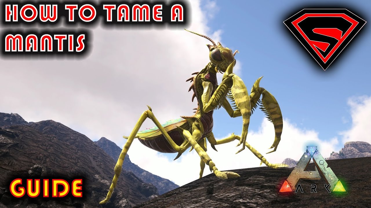 ARK HOW TO TAME A MANTIS 2019 - NO GHILLE ARMOR OR BUG REPELLANT NEEDED