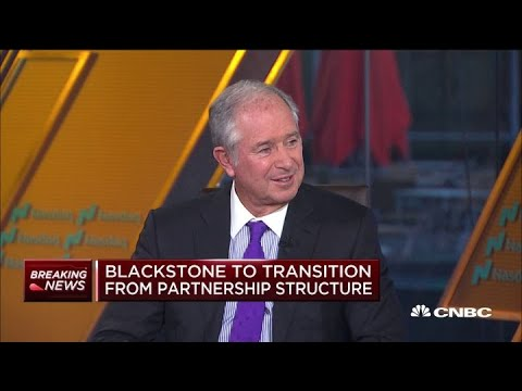 Blackstone's Steve Schwarzman on the firm's restructuring,