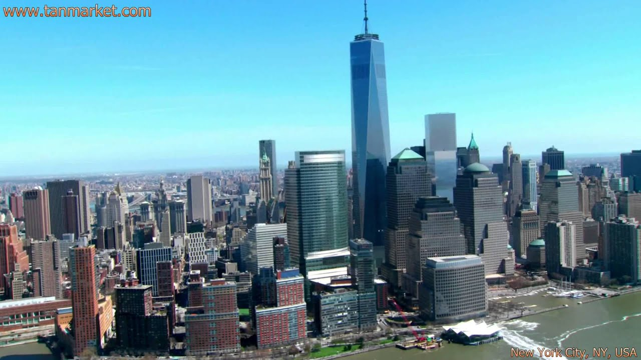Freedom Tower And New York Skyline Collage Video Youtube