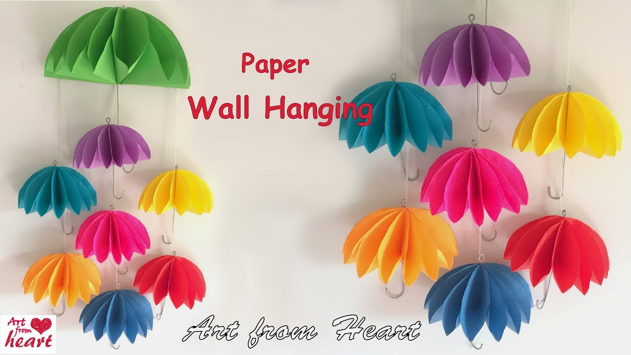 Wall Hanging Ideas diy - wall hanging from paper/ paper craft/ cardboard craft/ home