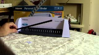 Fellowes Starlet 2 Personal Comb Binder Demonstration. Part 1