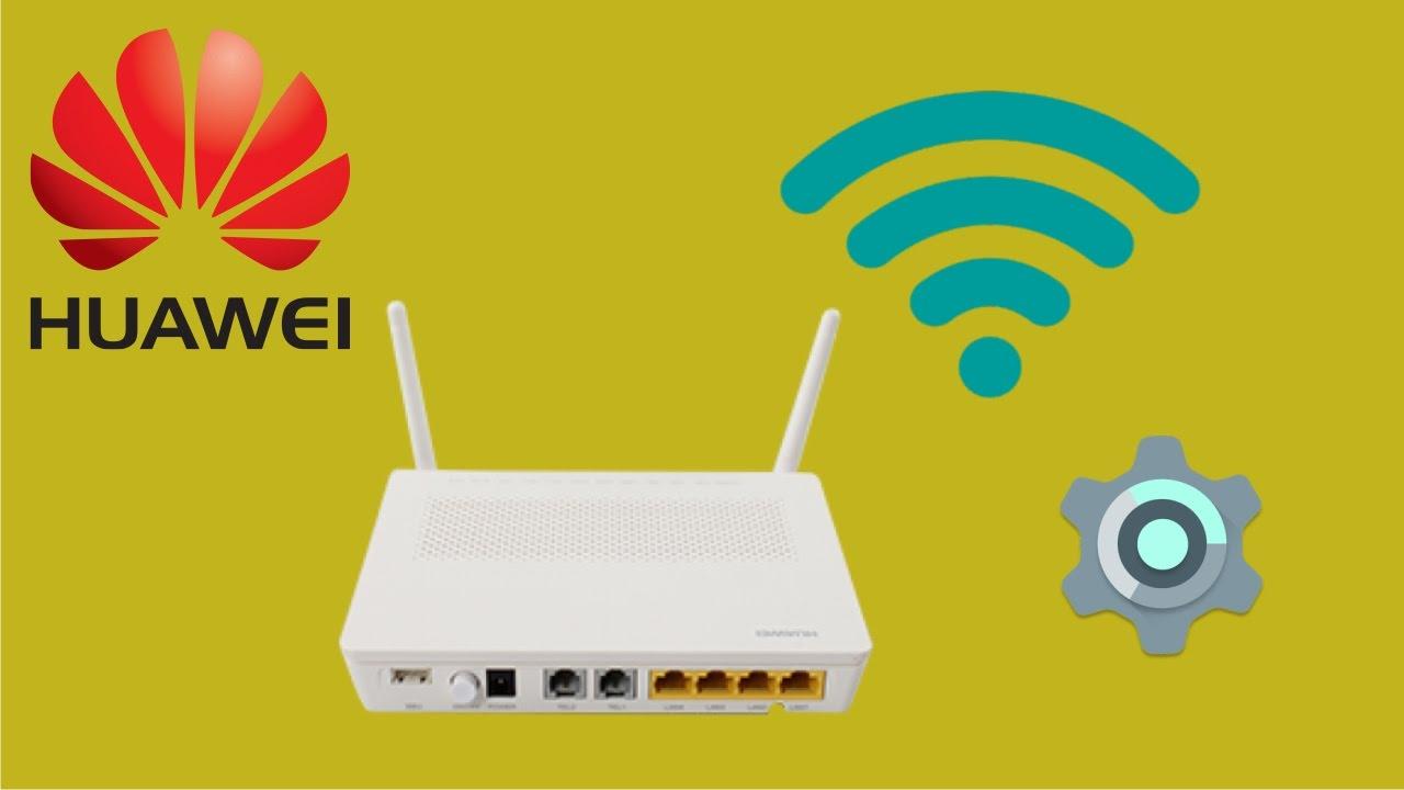 ONT Huawei HG8245H - configuração avançada da rede wireless