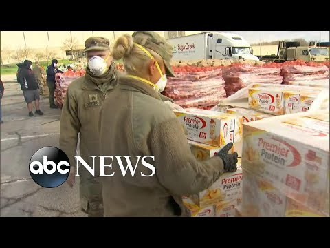 Inside 2 massive food banks feeding families affected by COVID-19