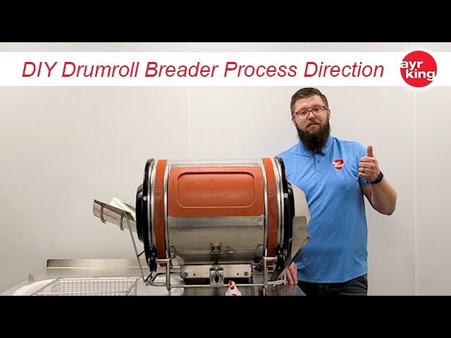 AyrKing DrumRoll Automated Breader (DRUF) process flow change