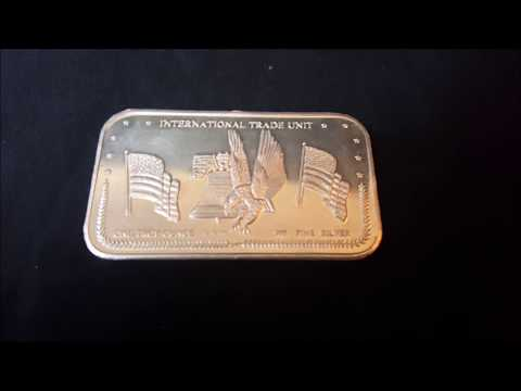 Vintage Troy Ounce .999 Fine Silver Bullion Bar International trade unit
