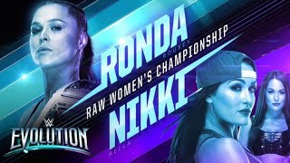 WWE Evolution: Ronda Rousey vs. Nikki Bella!!