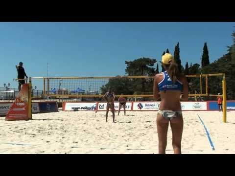 Beach Volleyball Russia Final 2014 Sochi Sviridova-Sviridova and Shvedova-Mastikova