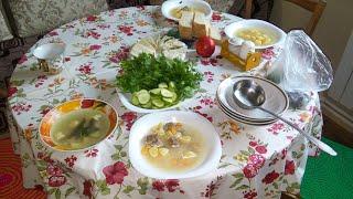 Суп из баранины.шулюм готовим на костре .