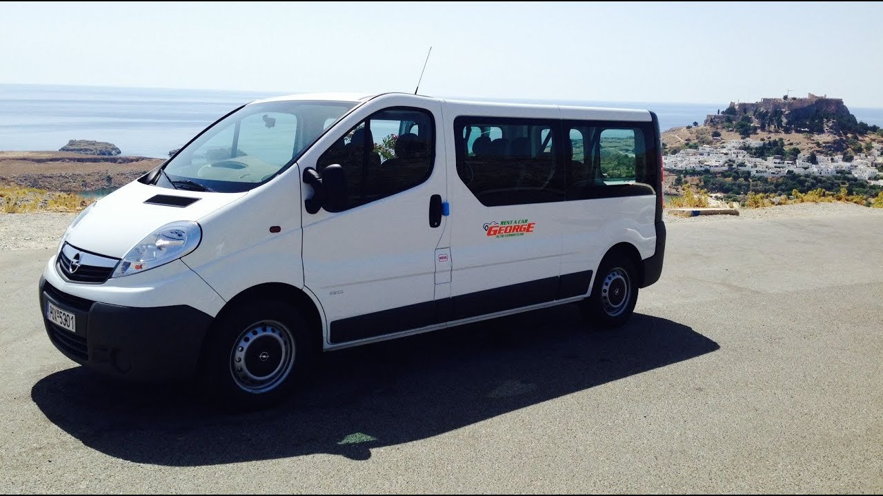 Chwalebne Opel Vivaro 9 Seats Mini Bus - Rent a Car Rhodes Rodos ZH11