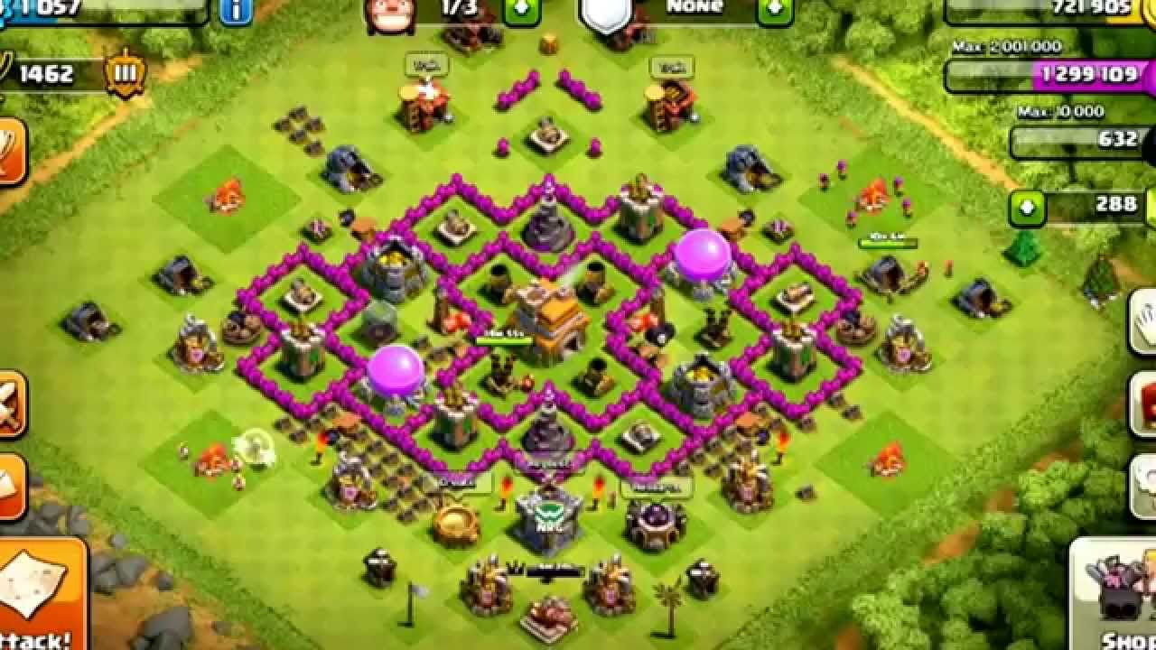 Clash Of Clans Best Town Hall Level 7 Defense Setup Plus New Series Youtube