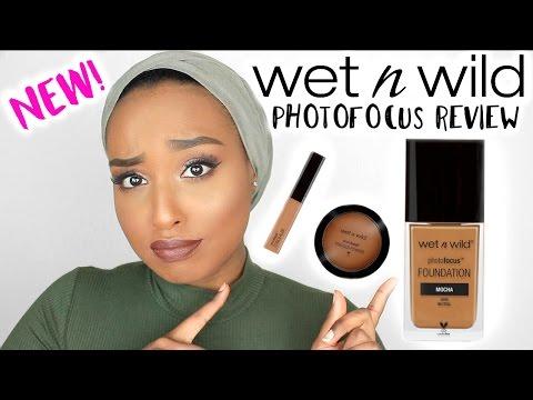 WET N WILD Photo Focus Foundation, Concealer & Powder Review | DARK SKIN | Aysha Abdul
