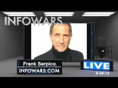 NYPD Whistle Blower Frank Serpico tells all on The Alex Jones Show !!!