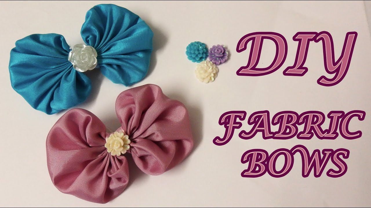 Diy fabric bows fabric hair bows tutorial how to youtube baditri Image collections