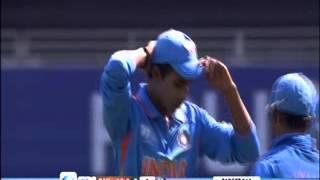 c v milind hyderabad s left arm fast bowler performs for india u 19 v s pakistan in 2013