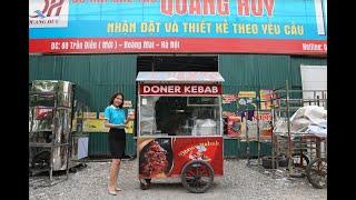Xe bán xôi bán bánh mì Doner kebab 1.6m mẫu mới nhất tại Quang Huy