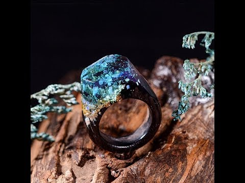 This method of making a wood resin ring is really cool |DIY Resin Ring | Resing Epoxy Jewelry