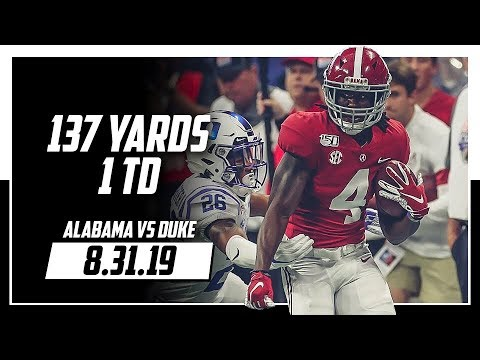 Download Jerry Jeudy Full Highlights Alabama vs Duke   10 Rec, 137 Yards, 1 TD   8.31.19