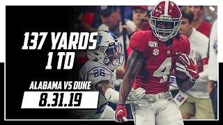 Jerry Jeudy Full Highlights Alabama vs Duke   10 Rec, 137 Yards, 1 TD   8.31.19